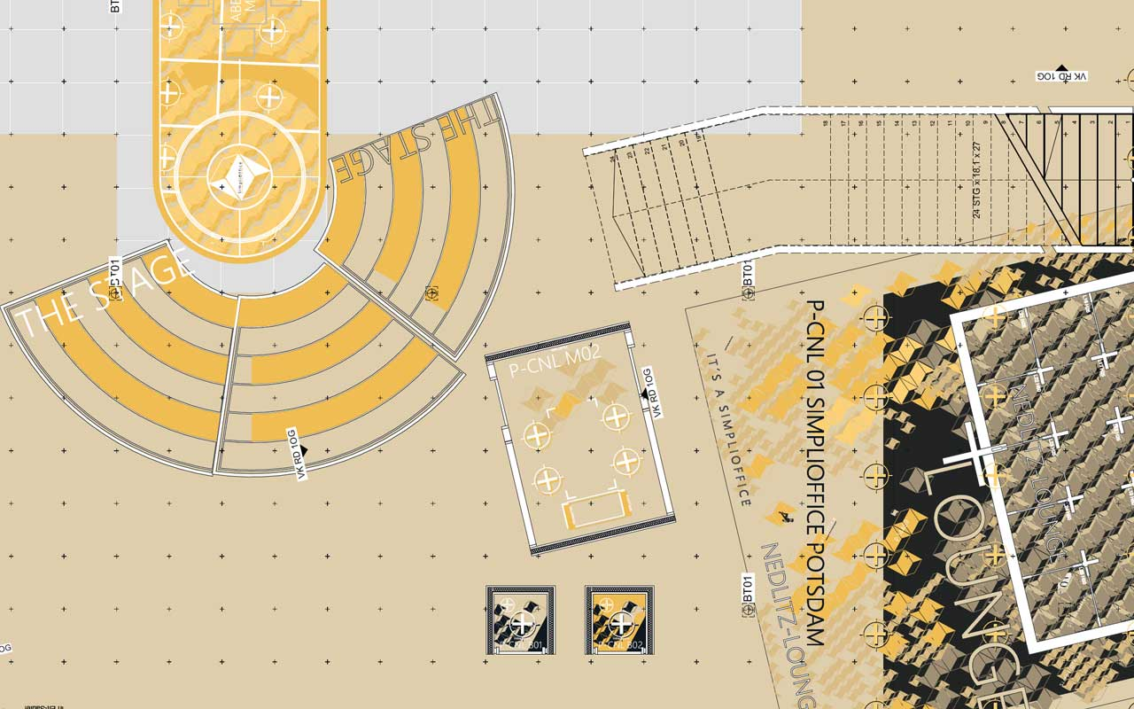 Citymap Hauptbühne der Eventlocation SimpliOffice Potsdam